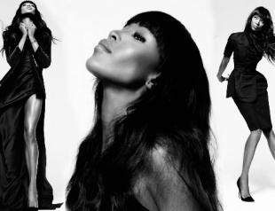 Наоми Кэмпбелл в новой черно-белой фотосессии