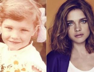 Какими были топ-модели  в детстве. Фото