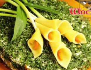 "Салат ""Каллы"": рецепт приготовления"
