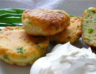 Рецепт оладий с яйцом и зеленым луком