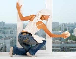 Как помыть окна без разводов?