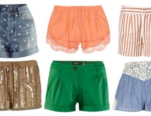 Модные шорты лета 2013: что, где, почем