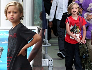 Дочь Джоли и Питта продолжает одеваться, как мальчик