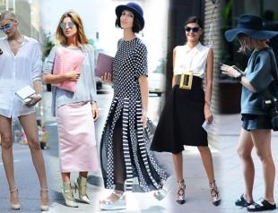 Уличный стиль на Неделе моды в Нью-Йорке. Часть 2