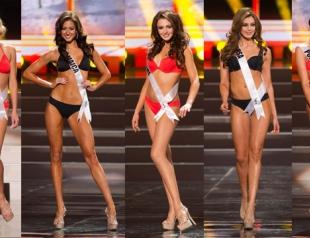 Полуфинал Мисс Вселенная 2013: дефиле участниц в купальниках