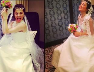 Сати Казанова показала фото в свадебном платье