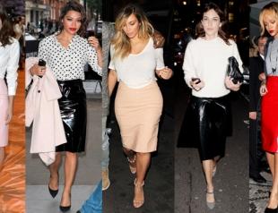 Тренд: виниловая юбка - как и с чем носить