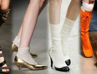 Тренд сезона весна-лето 2014: сочетаем носки и обувь