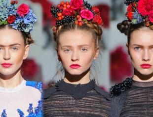 Маникюр и макияж в украинском стиле