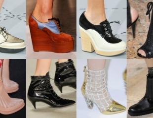 Модная обувь сезона весна-лето 2014: ботинки