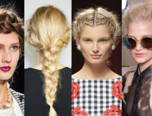 Стильные косы и косички 2014 года