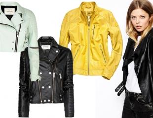 Модные кожаные куртки весны 2014: что, где, почем