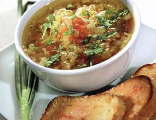 Рецепт постного блюда  «Марокканская похлебка из овощей с гренками». ФОТО