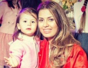 Виктория Боня вывела в свет двухлетнюю дочь