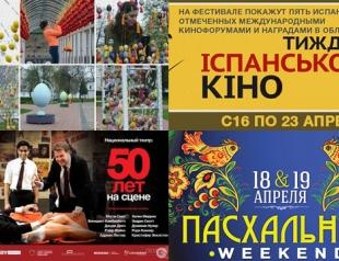 Где и как в Киеве провести выходные 19-20 апреля
