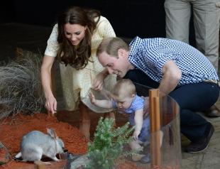 Герцоги Кембриджские с сыном посетили зоопарк Taronga