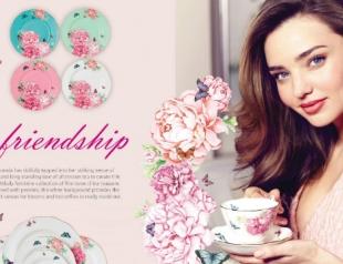 Миранда Керр создала коллекцию чайного сервиза