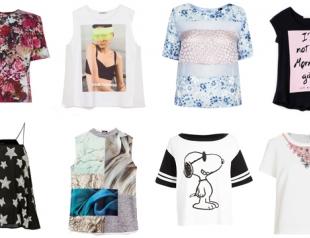 Модные майки и футболки лета 2014: что, где, почем