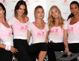 Модели Victoria's Secret поддержали благотворительный велопробег