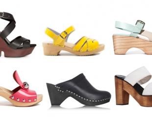 Обувь на деревянной подошве: 20 пар модных клогов