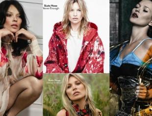 Кейт Мосс появилась сразу на четырех обложках глянца
