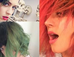 Кэти Перри покрасила волосы в красный