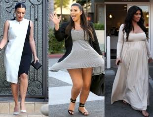 Ким Кардашьян снова беременна: самые яркие образы беременной Ким