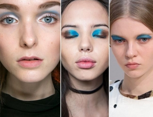 Как применять голубые тени в современном макияже. Фотогалерея