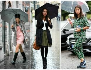 Стихия в городе: 15 модных образов на дождливую погоду