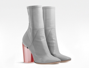 Dior Grey Patent Calfskin