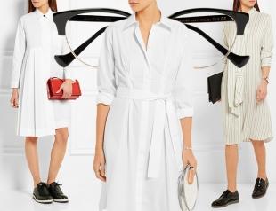 Что носить летом в офис: 4 стильных образа в платье-рубашке