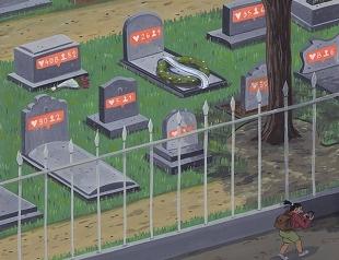 Лайки до гроба: художник иронично проиллюстрировал трагедии современного общества
