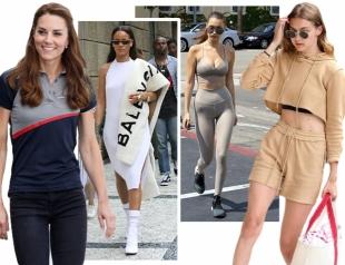 Как одеваться по-спортивному и выглядеть круто: показывают Кейт Миддлтон, Джиджи Хадид, Кендалл Дженнер, Рианна и другие звезды