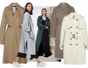 Модные плащи и тренчи на осень: какие выбрать и где купить