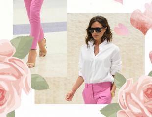 Вдохновение дня: Виктория Бекхэм в розовых брюках в Нью-Йорке