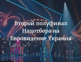 Отбор на Евровидение 2017 Украина: видео выступлений участников и результаты ВТОРОГО полуфинала (ОБНОВЛЯЕТСЯ)