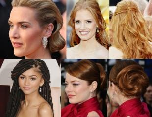 Вспомнить все: лучшие прически с красной дорожки «Оскар» за последние 10 лет