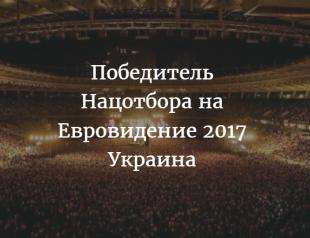 Объявлен победитель Нацотбора на Евровидение в 2017 году: кто представит Украину на конкурсе в Киеве