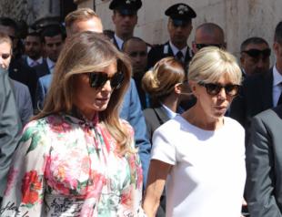 Баттл первых леди: Мелания Трамп и Брижит Макрон блеснули новыми нарядами в Италии (ФОТО)