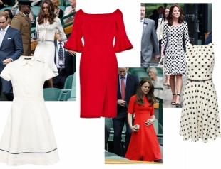 Голосуем! Большой теннис: лучшие платья Кейт Миддлтон на Уимблдоне и где их купить