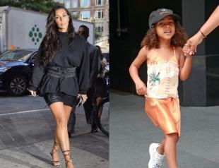 Ким Кардашьян оправдалась за то, что одела корсет на 4-летнюю дочь Норт Уэст (ФОТО)