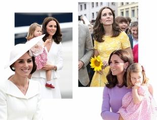 Европейский тур Кейт Миддлтон: приталенные платья и family look герцогини