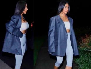 С мужского плеча: Ким Кардашьян в огромном пиджаке oversize удивила поклонников (ФОТО)