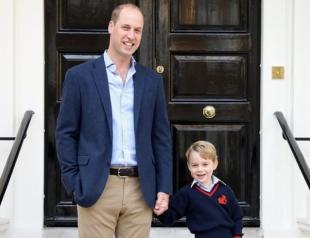 Принц Уильям рассказал о поведении принца Джорджа в школе в первый день обучения