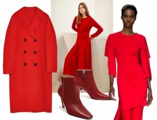 Color look: как носить красный этой осенью