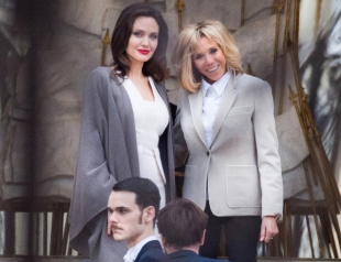 Вот так встреча: Анджелина Джоли и Бриджит Макрон познакомились в Париже (ФОТО)