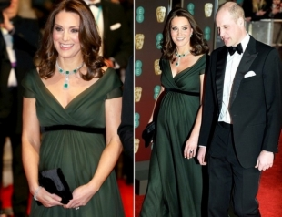 Кейт Миддлтон и принц Уильям на BAFTA-2018: герцогиня проигнорировала дресс-код в пользу королевских традиций