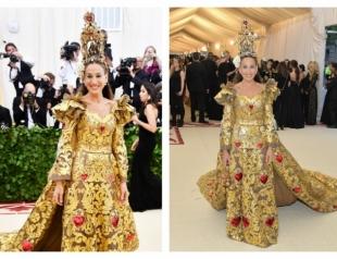 Сара Джессика Паркер в божественном образе стала звездой Met Gala 2018 (ФОТО)