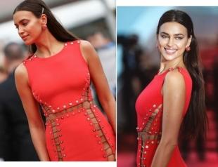 Ирина Шейк в супероткровенном платье Versace опровергла слухи о беременности