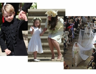 Принц Джордж и принцесса Шарлотта восхитили гостей свадьбы принца Гарри и Меган Маркл